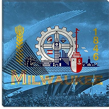 iCanvas Milwaukee Flag, Milwaukee Museum Graphic Art on Canvas; 26'' H x 26'' W x 0.75'' D
