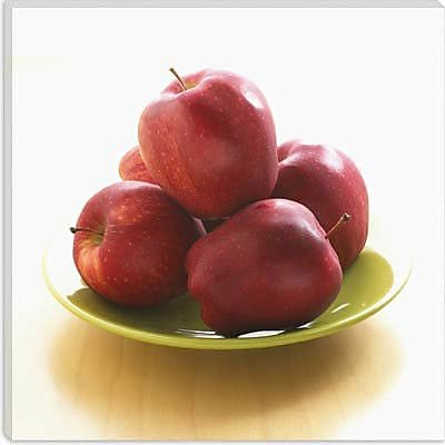 iCanvas Red Apples on a Plate Photographic; 37'' H x 37'' W x 1.5'' D