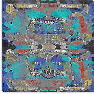 iCanvas One Canadian Dollar 2 Graphic Art on Canvas; 12'' H x 12'' W x 0.75'' D