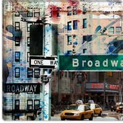 iCanvas One Way Broadway by Luz Graphics Graphic Art on Canvas; 37'' H x 37'' W x 0.75'' D