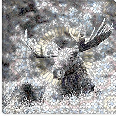 iCanvas Male Canadian Moose #3 Graphics Art on Canvas; 26'' H x 26'' W x 0.75'' D