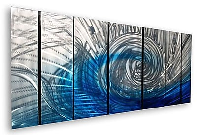 All My Walls 'Wave' by Ash Carl Designs 7 Piece Graphic Art Plaque Set
