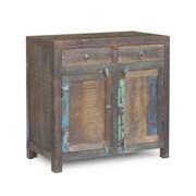 Timbergirl Reclaimed Wood 2-Door 2 Drawer Sideboard Cabinet