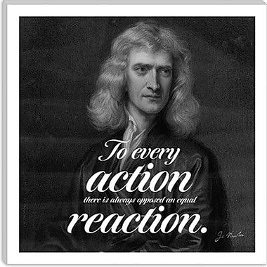 iCanvas Isaac Newton Quote Graphic Art on Canvas; 18'' H x 18'' W x 0.75'' D