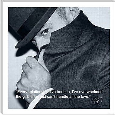 iCanvas Justin Timberlake Quote Photographic Print on Canvas; 12'' H x 12'' W x 0.75'' D