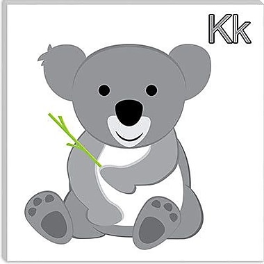 iCanvas Kids Children K is for Koala Graphic Canvas Wall Art; 18'' H x 18'' W x 0.75'' D