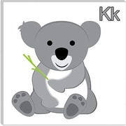 iCanvas Kids Children K is for Koala Graphic Canvas Wall Art; 12'' H x 12'' W x 1.5'' D