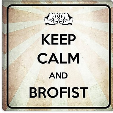 iCanvas Keep Calm and Brofist Textual Art on Canvas; 18'' H x 18'' W x 0.75'' D