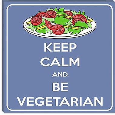 iCanvas Keep Calm and Be Vegeterian Graphic Art on Canvas; 18'' H x 18'' W x 0.75'' D
