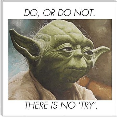 iCanvas Yoda Quote Painting Print on Canvas; 37'' H x 37'' W x 0.75'' D