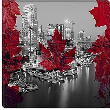 iCanvas Downtown Vancouver, Canada #2 Graphic Art on Canvas; 37'' H x 37'' W x 1.5'' D