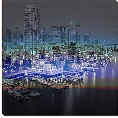 iCanvas Downtown Vancouver, Canada Graphic Art on Canvas; 37'' H x 37'' W x 0.75'' D