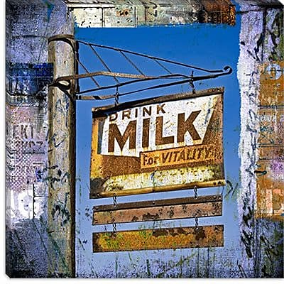 iCanvas Drink Milk by Luz Graphics Graphic Art on Canvas; 37'' H x 37'' W x 1.5'' D