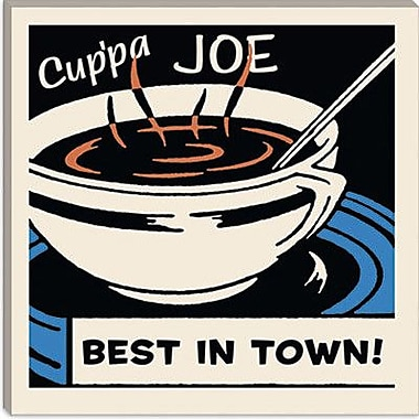 iCanvas Cup Pa Joe Best in Town Vintage Advertisement on Canvas; 26'' H x 26'' W x 1.5'' D