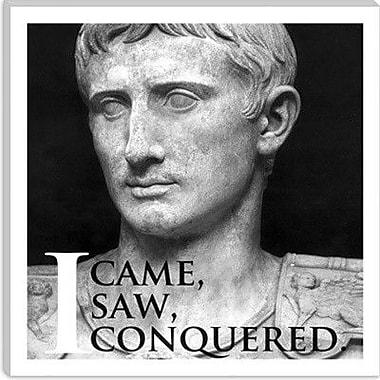 iCanvas Julius Caesar Quote Graphic Art on Canvas; 12'' H x 12'' W x 0.75'' D