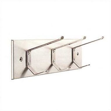Magnuson Group Stainless Steel Panel Coat Hook; Three