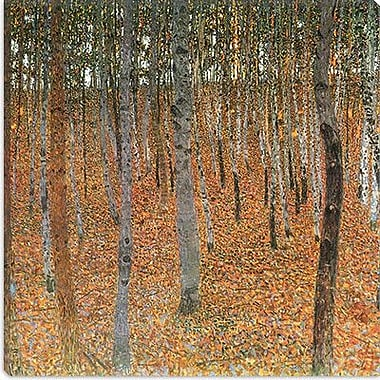 iCanvas 'Forest of Beech Trees' by Gustav Klimt Painting Print on Canvas; 37'' H x 37'' W x 0.75'' D