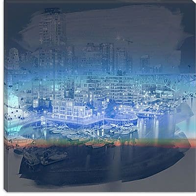 iCanvas Downtown Vancouver, Canada #5 Graphic Art on Canvas; 18'' H x 18'' W x 0.75'' D