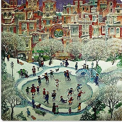 iCanvas ''City Skaters'' by Bill Bell Painting Print on anvas; 18'' H x 18'' W x 1.5'' D