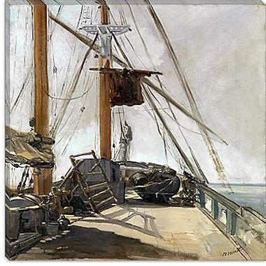 iCanvas ''The Ship's Deck'' Canvas Wall Art by Edouard Manet; 12'' H x 12'' W x 0.75'' D