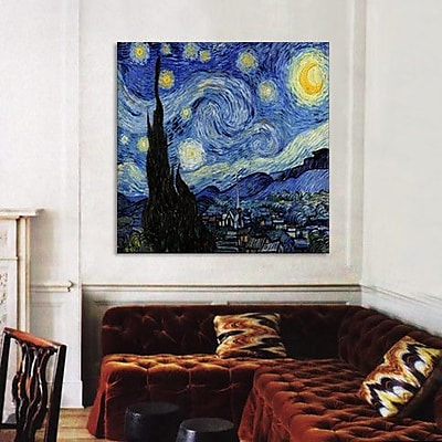 iCanvas 'The Starry Night' by Vincent Van Gogh Painting Print on Wrapped Canvas