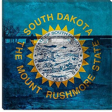 iCanvas Flags South Dakota Falls Park Graphic Art on Wrapped Canvas; 37'' H x 37'' W x 1.5'' D