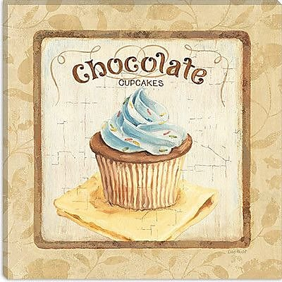iCanvas ''Sweet Cupcakes (Chocolate)'' by Lisa Audit Graphic Art on Wrapped Canvas