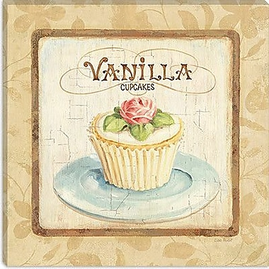 iCanvas ''Sweet Cupcakes (Vanilla)'' by Lisa Audit Graphic Art on Wrapped Canvas