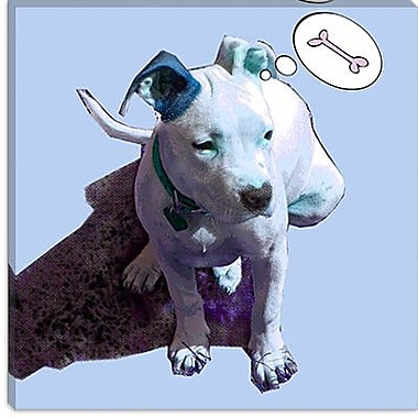 iCanvas ''Blue Puppy'' by Luz Graphics Graphic Art on Canvas; 12'' H x 12'' W x 1.5'' D
