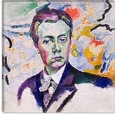 iCanvas ''Autoportrait'' by Robert Delaunay Painting Print on Canvas; 12'' H x 12'' W x 0.75'' D
