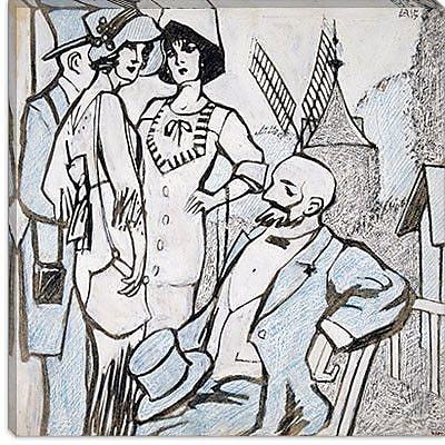 iCanvas ''Aux courses des Longchamps'' Canvas Wall Art by Juan Gris; 18'' H x 18'' W x 1.5'' D
