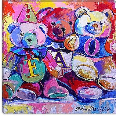 iCanvas ''Bears'' by Richard Wallich Painting Print on Canvas; 18'' H x 18'' W x 1.5'' D