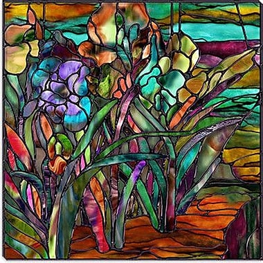 iCanvas ''Candy Coated Irises'' by Mindy Sommers Painting Print on Canvas; 12'' H x 12'' W x 1.5'' D
