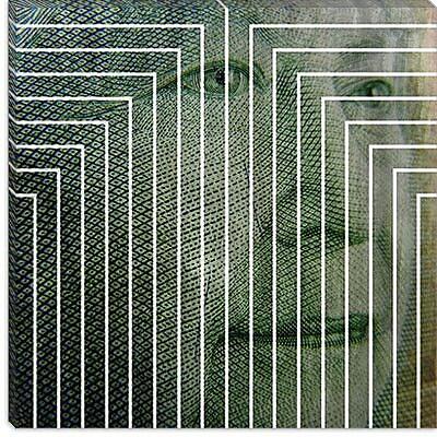 iCanvas Canada Money Queen Graphic Art on Canvas; 18'' H x 18'' W x 1.5'' D