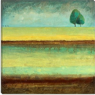iCanvas Decorative ''A Tree by a River'' by Pablo Esteban Painting Print on Canvas