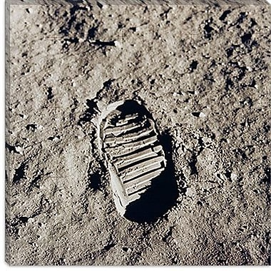 iCanvas 'Apollo 11 Bootprint' by Buzz Aldrin Photographic Print on Canvas; 26'' H x 26'' W x 1.5'' D