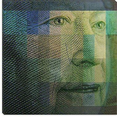 iCanvas Canada Money Queen #4 Graphic Art on Canvas; 12'' H x 12'' W x 1.5'' D