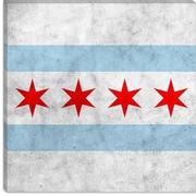 iCanvas Chicago Flag w/ Grunge Graphic Art on Canvas; 12'' H x 12'' W x 1.5'' D