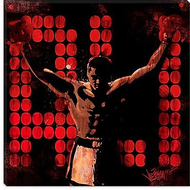 iCanvas 'Champ (Muhammad Ali)' by Joe Petruccio Graphic Art on Canvas; 12'' H x 12'' W x 1.5'' D