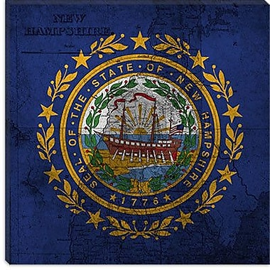 iCanvas Flags New Hampshire Graphic Art on Canvas; 12'' H x 12'' W x 0.75'' D