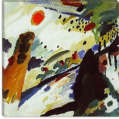iCanvas ''Romantic Landscape'' Canvas Wall Art by Wassily Kandinsky; 37'' H x 37'' W x 1.5'' D