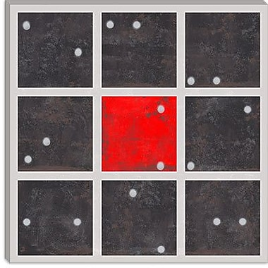 iCanvas Modern Cube Dice Center Graphic Art on Canvas; 26'' H x 26'' W x 1.5'' D