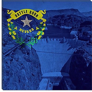 iCanvas Flags Nevada Hoover Dam Graphic Art on Canvas; 37'' H x 37'' W x 1.5'' D