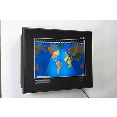 Geochron Geochron Boardroom Model World Wall Clock; Black Oak, Silver Trim