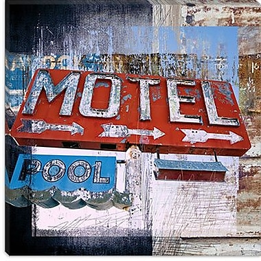 iCanvas ''Motel Pool'' by Luz Graphics Graphic Art on Canvas; 18'' H x 18'' W x 0.75'' D