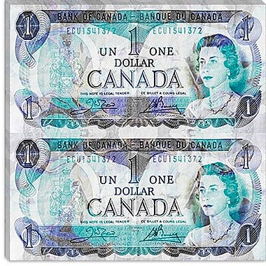 iCanvas Canada One Dollar 4 Graphic Art on Canvas; 26'' H x 26'' W x 0.75'' D