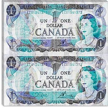 iCanvas Canada One Dollar 4 Graphic Art on Canvas; 37'' H x 37'' W x 1.5'' D