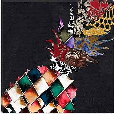 iCanvas Pineapple Brocade II Graphic Art on Canvas; 12'' H x 12'' W x 0.75'' D