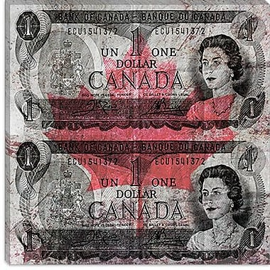 iCanvas One Canada Dollar 7 Graphic Art on Canvas; 37'' H x 37'' W x 1.5'' D