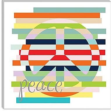 iCanvas ''Peace Rainbow'' by Erin Clark Graphic Art on Canvas; 18'' H x 18'' W x 1.5'' D